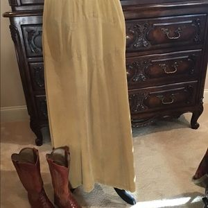 Sundance long corduroy skirt.